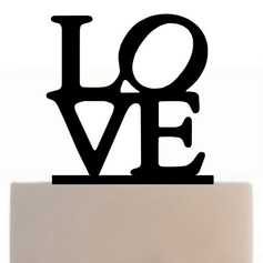 """LOVE"" Acrylic Cake Topper"