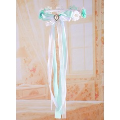 Satin/Lace With Imitation Pearls/Flower Flower Headband