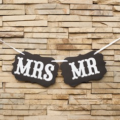 """Mr. & Mrs."" Card Paper Photo Booth Props/Banner"
