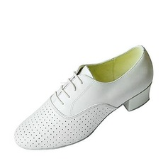 Men's Real Leather Heels Ballroom Dance Shoes