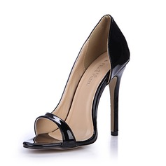 Women's Patent Leather Stiletto Heel Sandals Pumps Peep Toe shoes