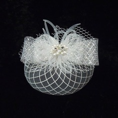 Fashion Rhinestone/Imitation Pearls/Net Yarn Fascinators