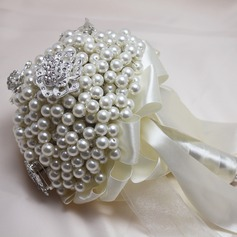 Attractive Round Rhinestone/Imitation Pearl Bridal Bouquets