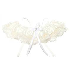 Lovely Lace Polyester With Ribbons Wedding Garters