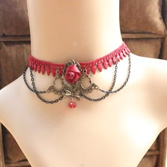 Chic Alloy Imitation Pearls Lace With Imitation Pearl Lace Ladies' Fashion Necklace