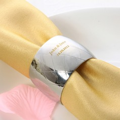 Personalized Round Stainless Steel Napkin Rings