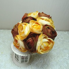 Classic Round Cloth Bridesmaid Bouquets