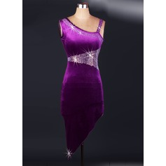 Women's Dancewear Velvet Latin Dance Dresses