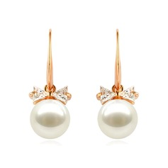 Beautiful Zircon/Imitation Pearls Ladies' Earrings