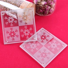 Snowflake Glass Coaster