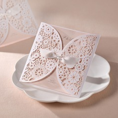 Personalized Artistic Style Wrap & Pocket Invitation Cards With Bows  (114055015)