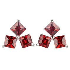 Artistic Zircon/Platinum Plated Earrings