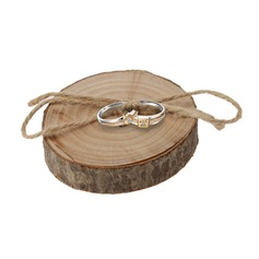 Shabby Rustic Ring Box in Wood (set of 5)