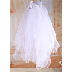 Tulle With Imitation Pearls/Rhinestones/Bow Flower Girl/Communion Veils