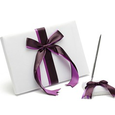 Bows Ribbons Guestbook & Pen Set