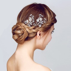 Beautiful Alloy/Imitation Pearls Hairpins(Sold in single piece)