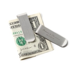 Personalized Pretty Stainless Steel Money Clips