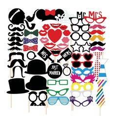Photo Booth Props Card Paper  Funny Mask Photo Booth Props Wedding Decorations (131085898)