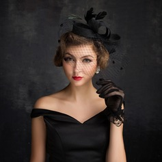 Ladies' Eye-catching Feather/Net Yarn/Tulle/Linen With Feather Fascinators