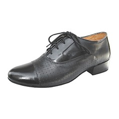 Men's Real Leather Heels Latin Modern Ballroom Dance Shoes