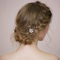 Beautiful Rhinestone/Alloy/Freshwater Pearl Combs & Barrettes (Sold in single piece)
