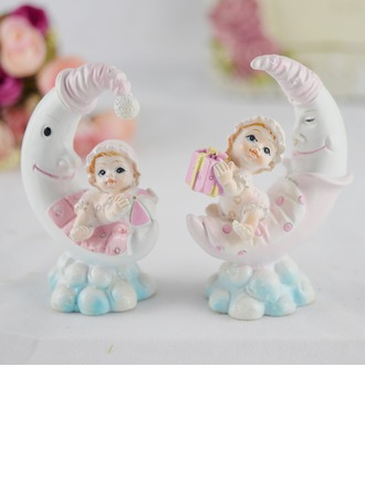Figurine Baby design Resin Baby Shower Cake Topper (Set of 4)