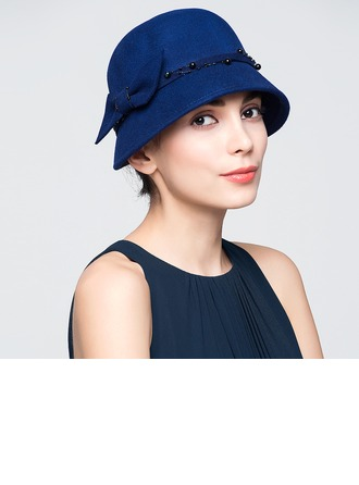 Ladies' Gorgeous Autumn/Winter Wool With Bowknot Bowler/Cloche Hat