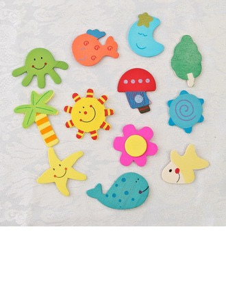 Beach Theme Wooden Stickers