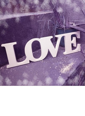 "White ""LOVE"" PVC Decorative Accessories"