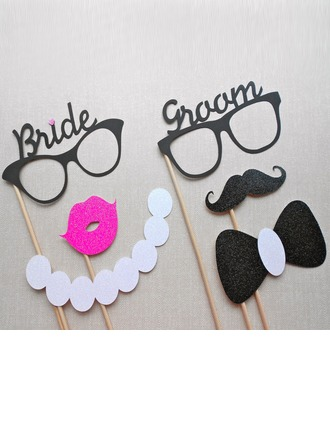 Vintage Bride and Groom Card Paper Photo Booth Props