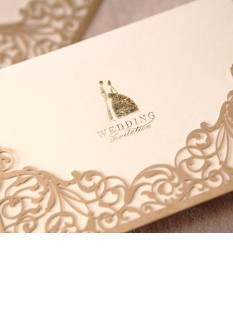 Bride & Groom Style Wrap & Pocket Invitation Cards