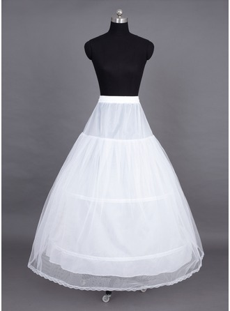 Women Tulle Netting Floor-length 2 Tiers Petticoats