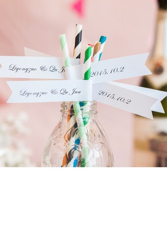 Personalized Name And Date High quality paper Straw