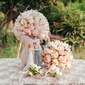 Fascinating Round Artificial Silk Flower Sets (set of 4) Boutonniere/Bridal Bouquets/Bridesmaid Bouquets (123074013)