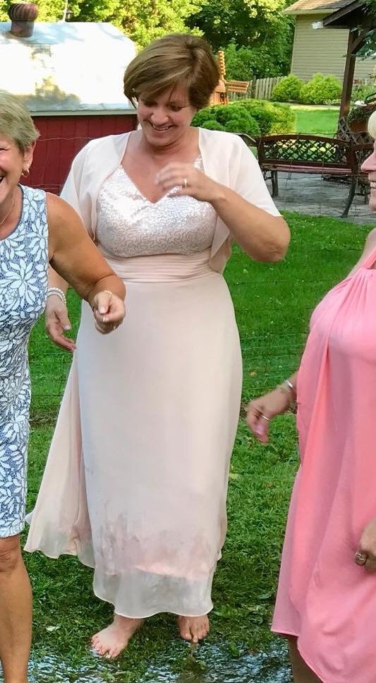 A-Linie V-Ausschnitt Knöchellang Chiffon Pailletten Kleid für die Brautmutter mit Rüschen (008058400)