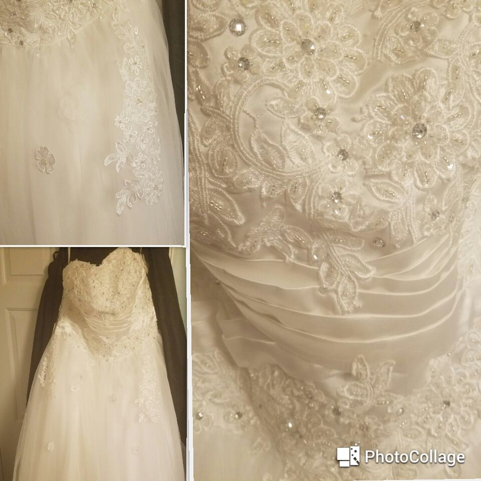 Ball-Gown Sweetheart Floor-Length Tulle Wedding Dress With