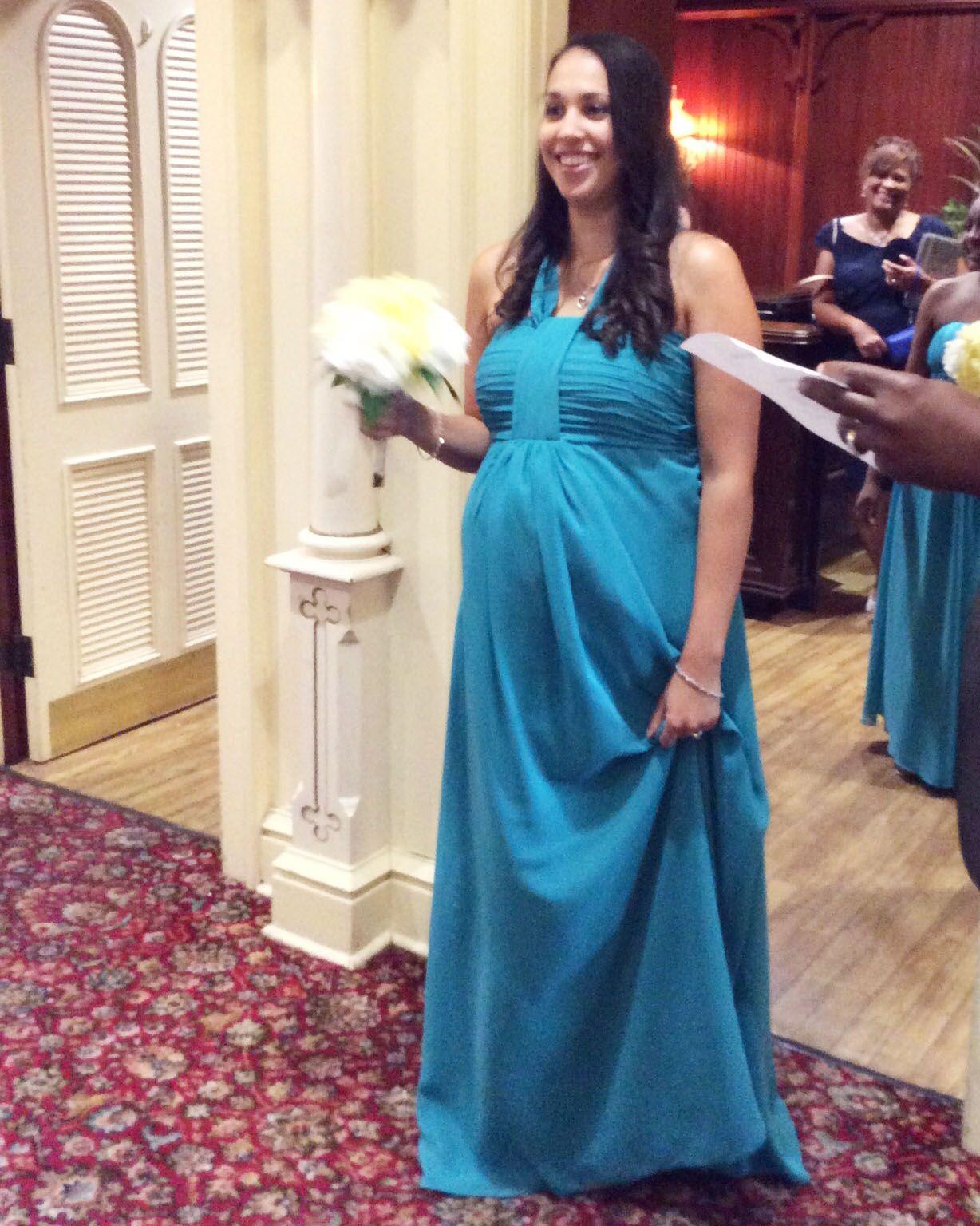 Empire V-neck Floor-Length Chiffon Bridesmaid Dress With Ruffle ...
