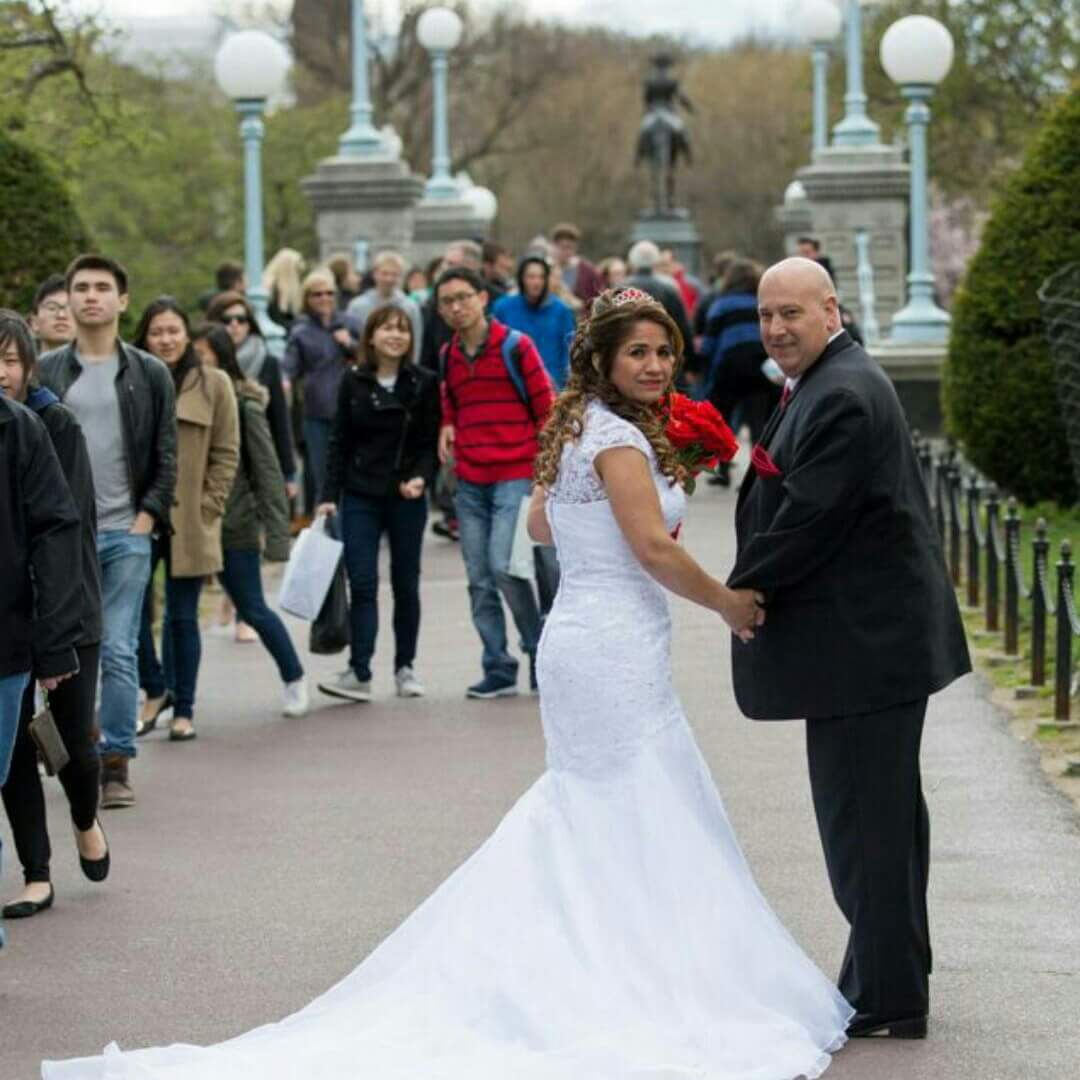 Trumpet/Mermaid High Neck Cathedral Train Organza Lace Wedding Dress ...