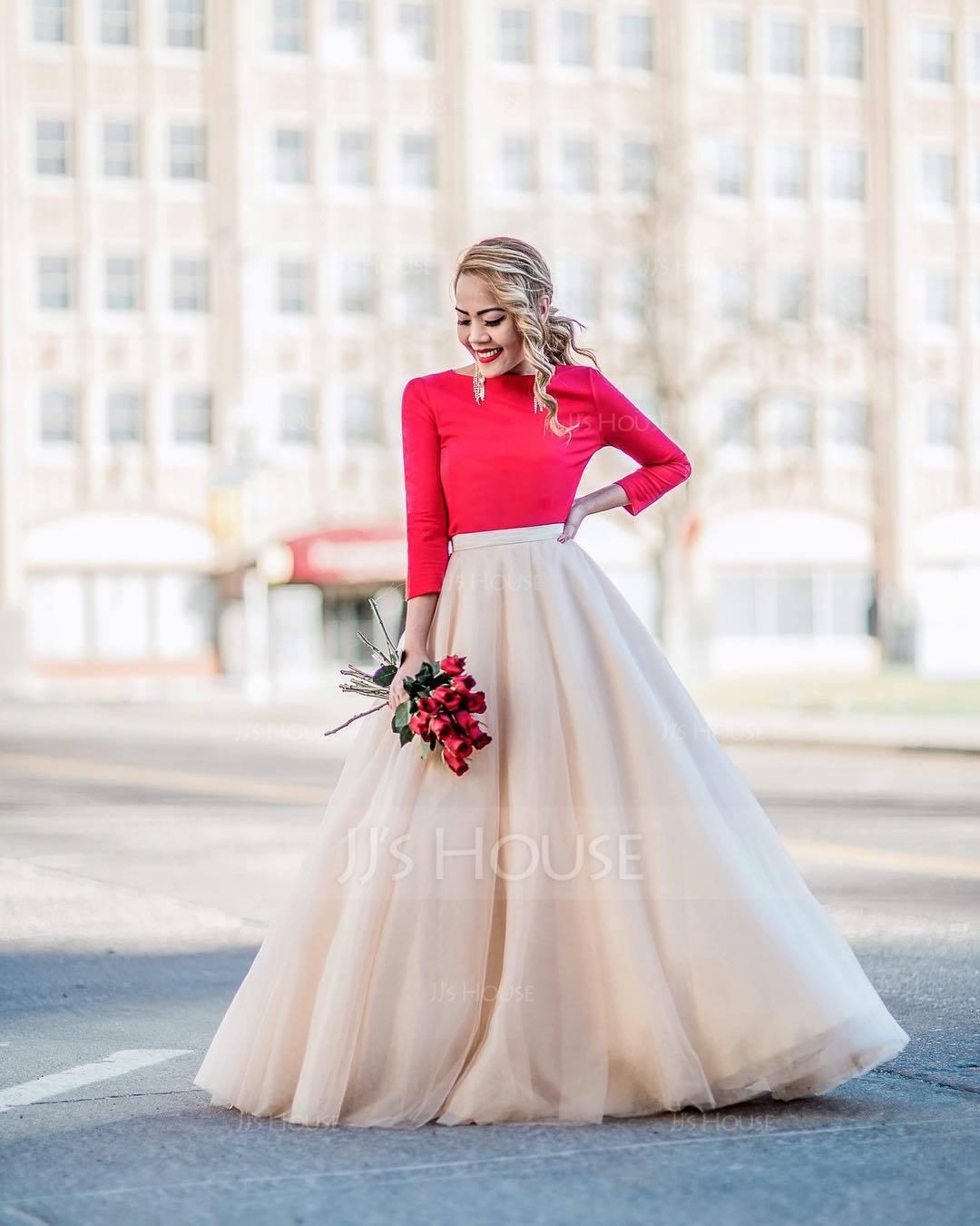 Separates Floor-Length Tulle Wedding Skirt (002110496)
