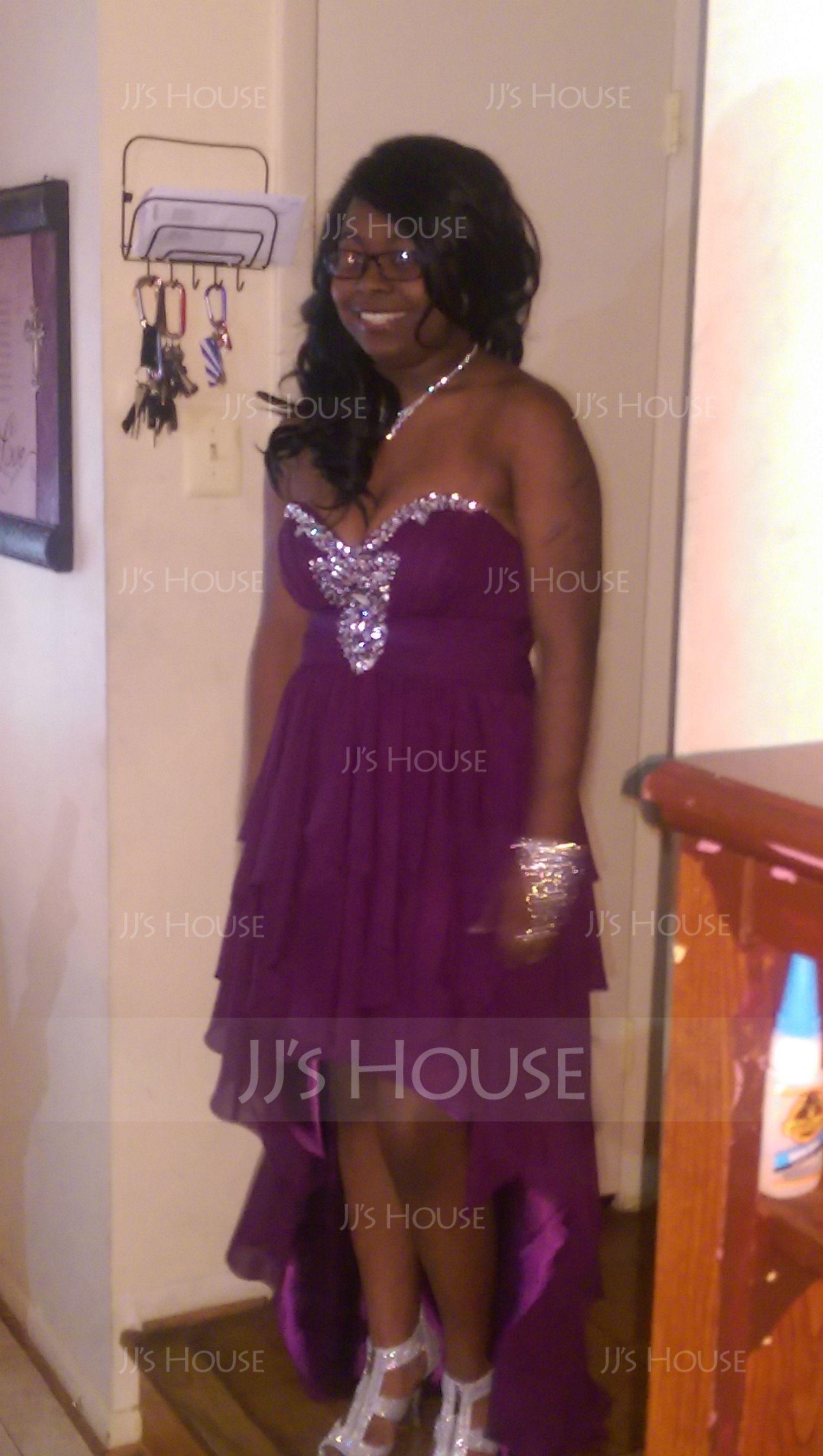 A-Line Sweetheart Asymmetrical Chiffon Prom Dresses (018004808)