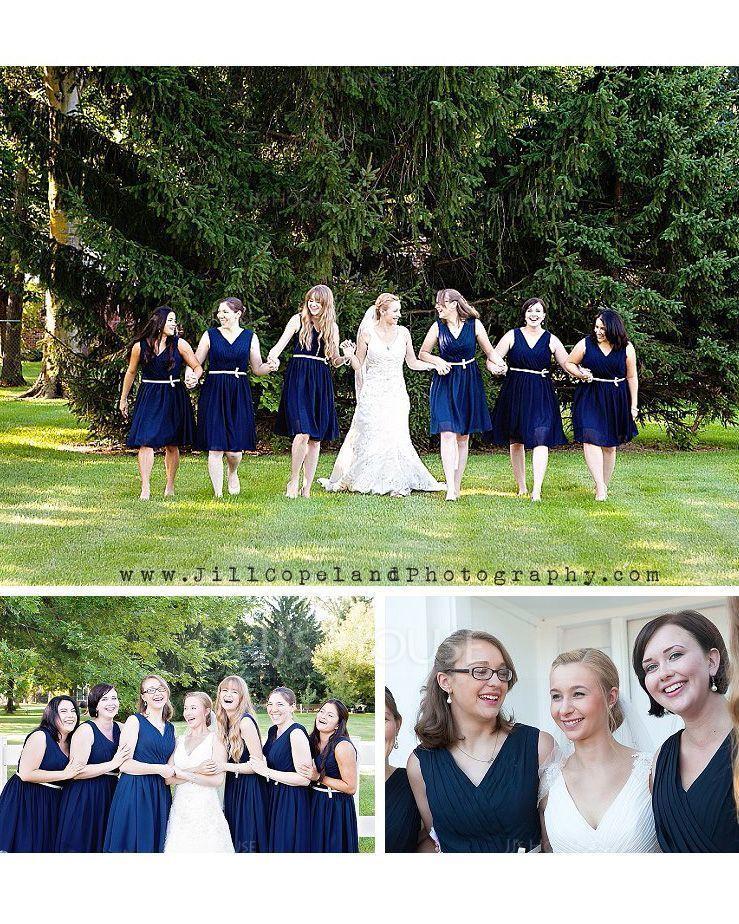 A-Line/Princess V-neck Knee-Length Chiffon Bridesmaid Dress With Ruffle Beading Sequins (007074176)