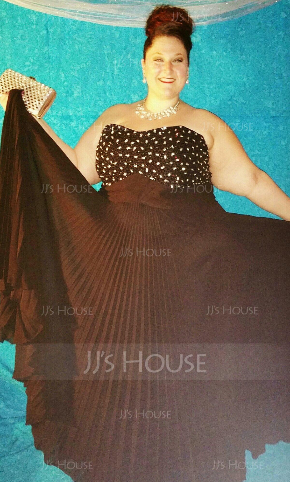 Empírový Srdcový výstřih Délka na zem Chiffon Prázdninové šaty S Zdobení korálky (020003246)