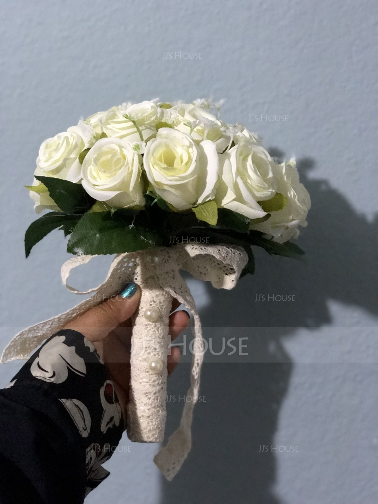 Hand-tied Satin Bridal Bouquets/Bridesmaid Bouquets - (123123111)