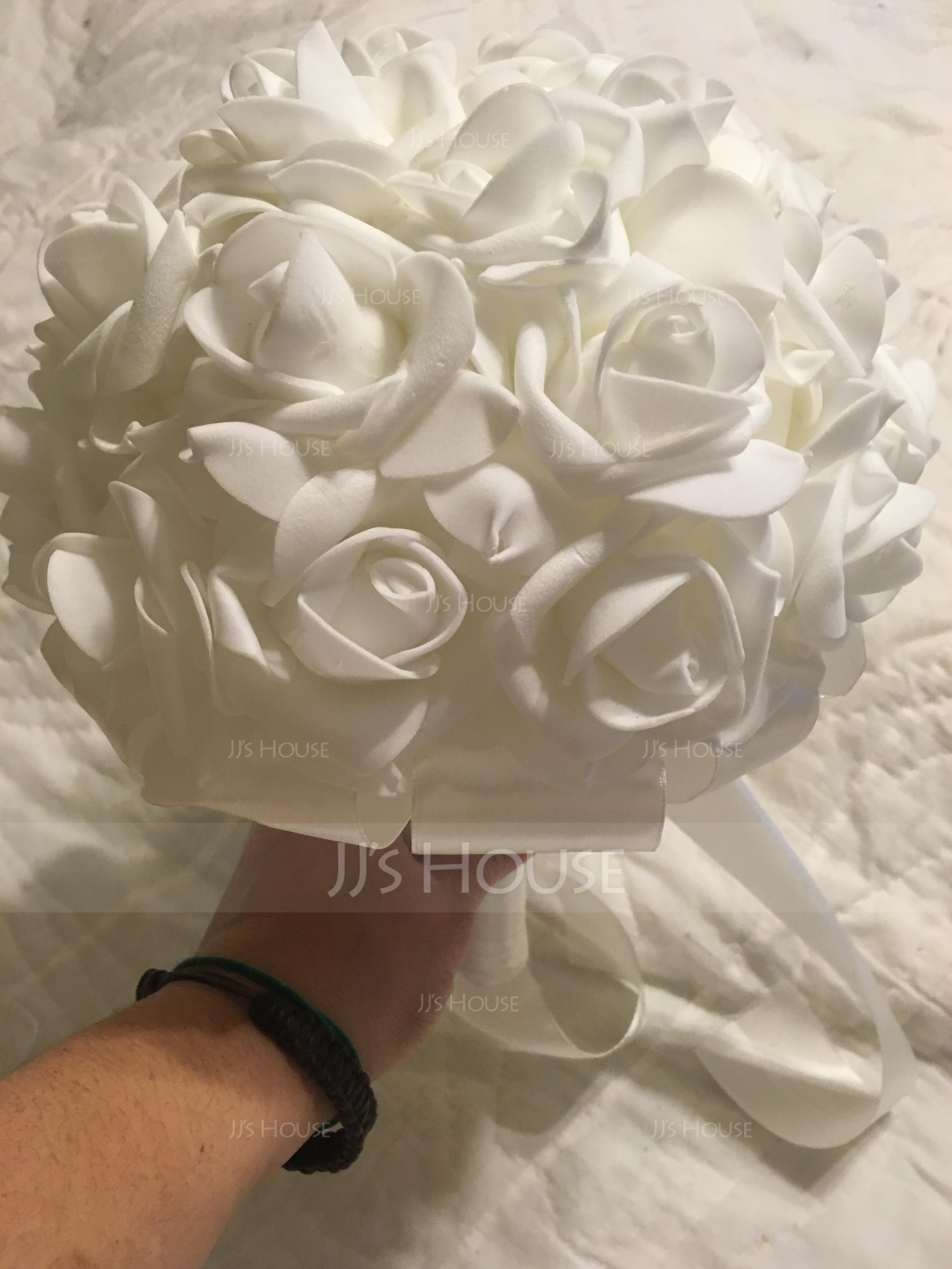 Simple And Elegant Free-Form Foam Bridal Bouquets - (123138682)
