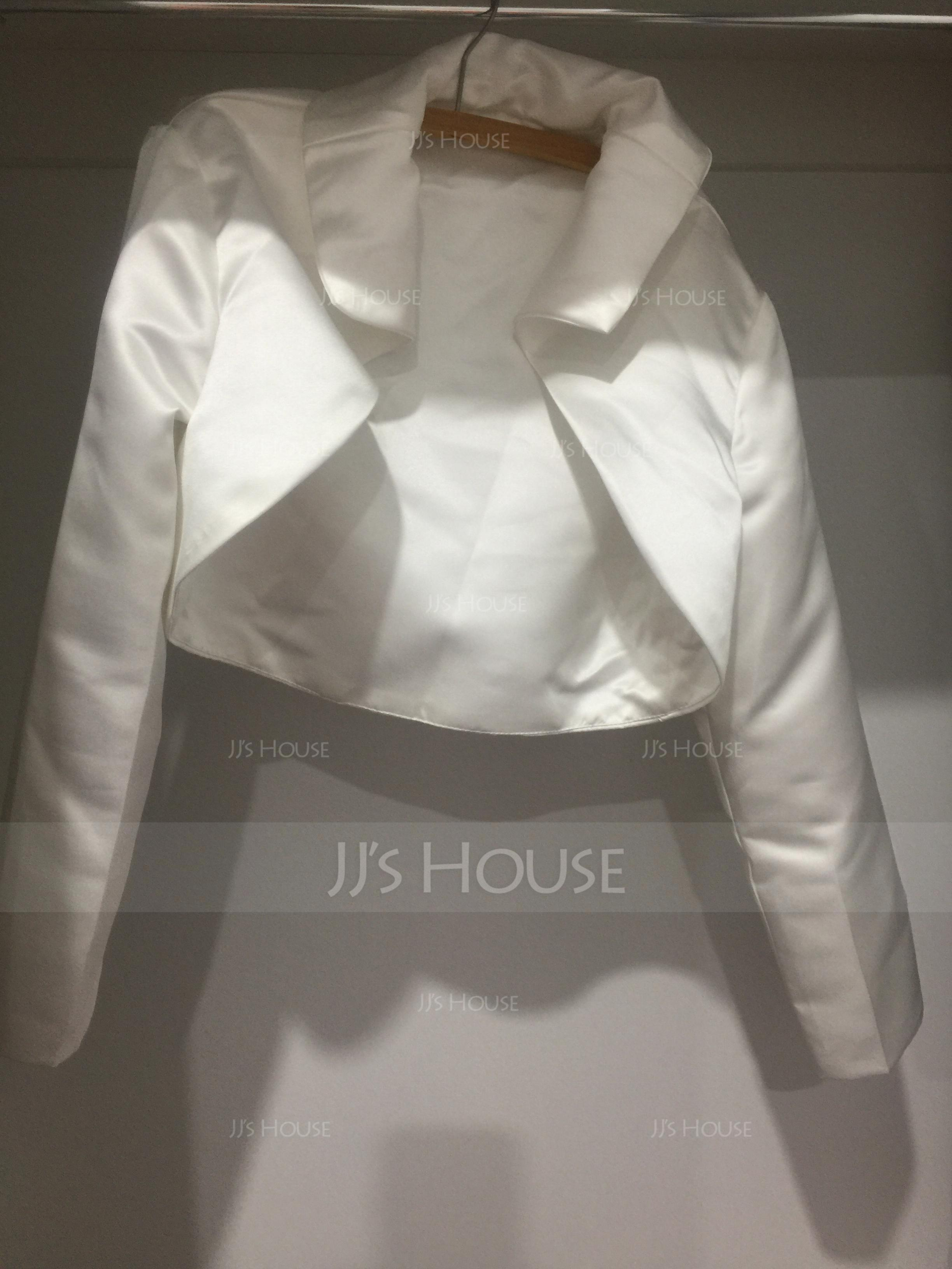 Long Sleeve Satin Special Occasion Wrap (013004362)